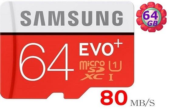 Samsung 64GB 64G microSDXC【80MB/s】EVO Plus microSD micro SD SDXC UHS UHS-I U1 C10 原廠包裝 三星 手機記憶卡 記憶卡