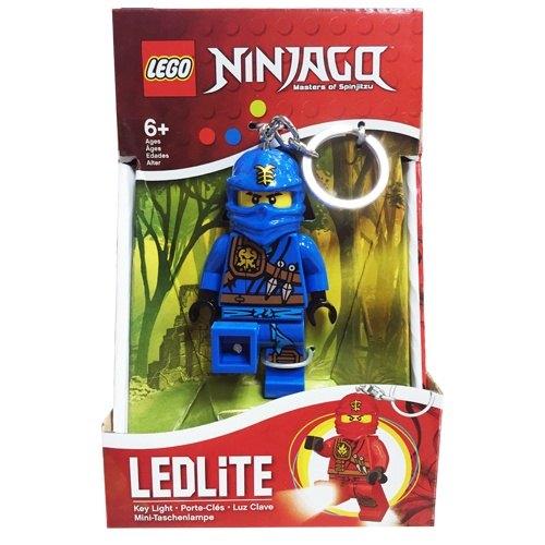 【 LEGO 樂高積木 】忍者人型 LED 燈鑰匙圈- 藍忍 杰