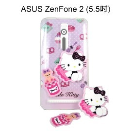 Hello Kitty 拭鏡貼透明軟殼 [甜點粉] ASUS ZenFone 2 ZE550ML ZE551ML Z00AD Z008D【三麗鷗正版授權】