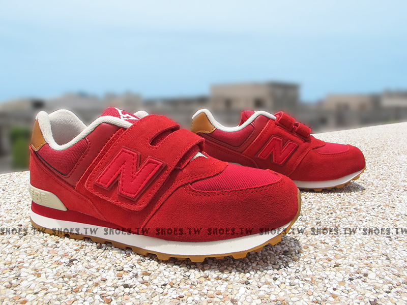 Shoestw【KV574NJI】NEW BALANCE 574 膠底 防滑 小童鞋 運動鞋 紅咖啡