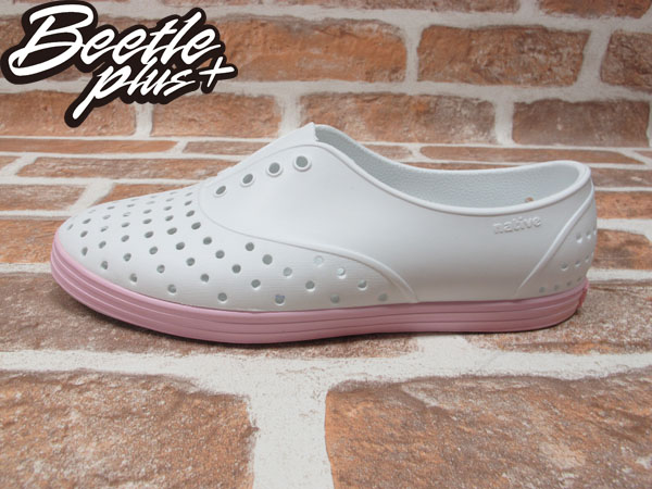 BEETLE PLUS 西門町 全新 NATIVE JERICHO SHELL WHITE WITH PLIE PINK 白 粉紅 馬卡龍 女鞋 GLM04W-140