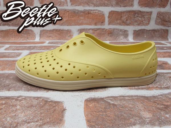 BEETLE PLUS 西門町專賣 全新 NATIVE SHOES JERICHO MELLOW YELLOW 鵝黃 便鞋 奶油底 女鞋 GLM04W-740