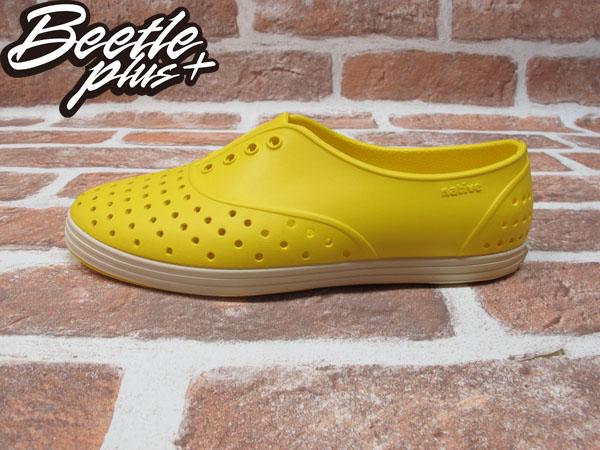 西門町 BEETLE PLUS 全新 NATIVE JERICHO CRAYON YELLOW 蠟筆 黃 超輕 女鞋 GLM04W-752