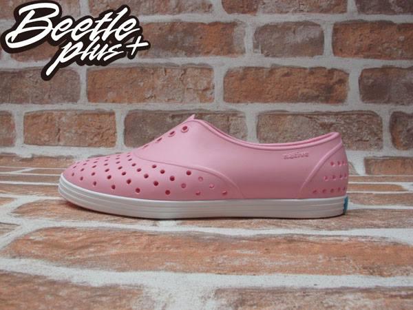 BEETLE PLUS 全新 NATIVE JERICHO 限量 亮粉 粉紅 白粉 白底 草莓牛奶 藍標 超輕量 女鞋 GLM04W-5951