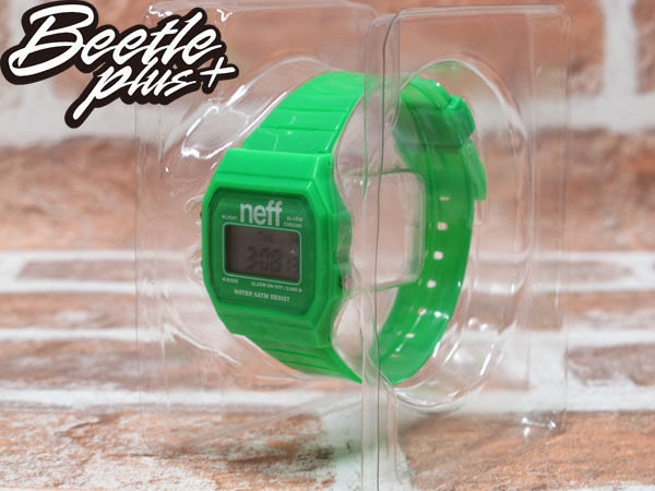 BEETLE PLUS 西門町經銷 現貨 美國潮牌 NEFF FLAVA GREEN WATCH 螢光綠 電子錶 防潑水手錶 NF-22