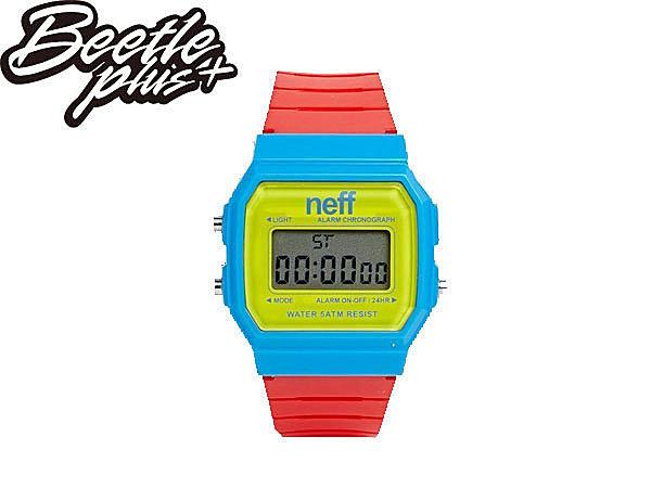 BEETLE PLUS NEFF FLAVA WATCH PRIMARY 黃 藍 紅 電子錶 防潑水手錶 NF-115