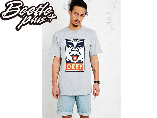 BEETLE PLUS 西門町經銷 全新 美國品牌 OBEY MEGA DOSE LOGO 灰 人臉彩繪塗鴉 NBA SUPREME NEW ERA 163080368HTR OB-185