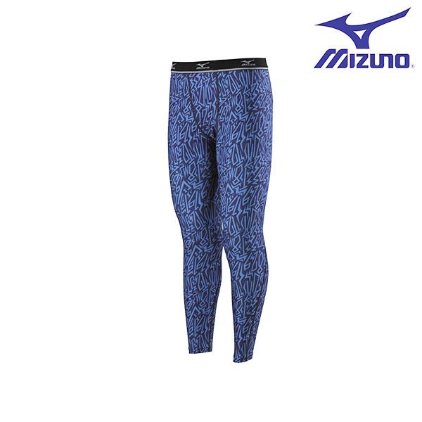 32TB6G4322(深藍)吸汗怏乾 昇華印刷全長版男運動內搭褲【美津濃MIZUNO】