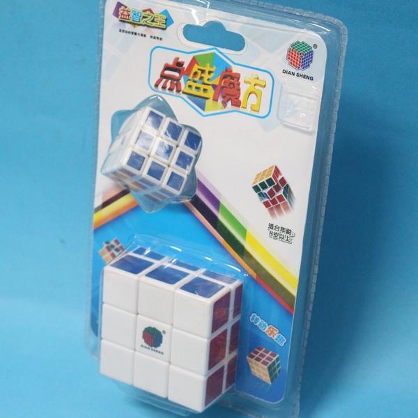 大+小魔術方塊 點盛魔術方塊 3x3標準比賽級 5.7cm X 5.7cm(白底)/一卡入{促100}