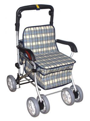 健步車 助行車 購物車 四輪車-鋁製散步車(有扶手) FZK238