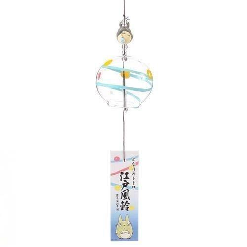 【真愛日本】13042600014 灰龍貓江戶風鈴-藍 龍貓 TOTORO 豆豆龍 龍貓車 居家裝飾