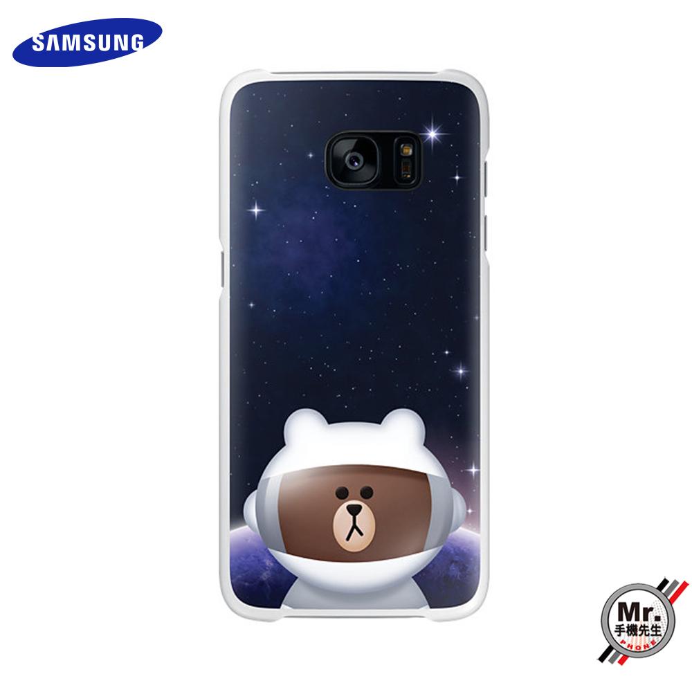 【Samsung】Galaxy S7 edge x LINE friends 原廠 透明 熊大 背蓋 保護蓋
