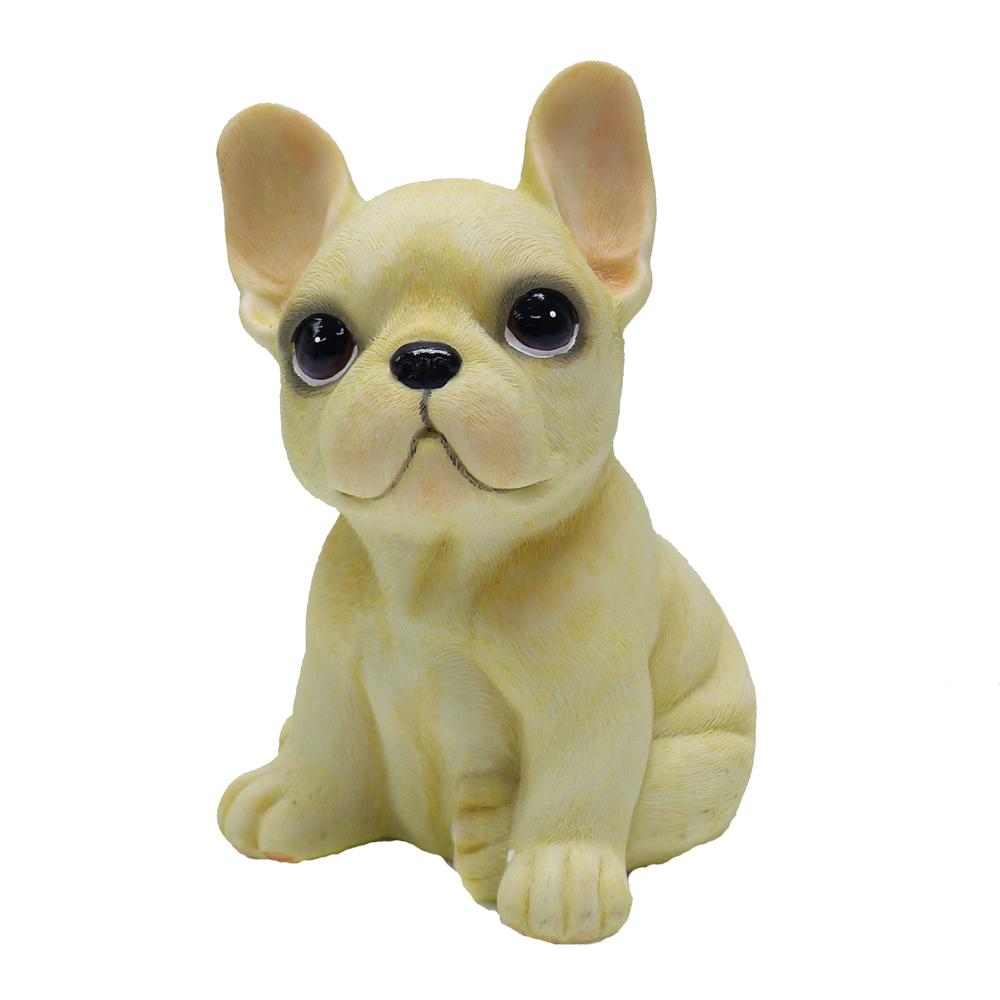 【摩達客寵物】超萌擬真奶油超旺鬥牛犬創意狗狗寵物擺飾(單入)