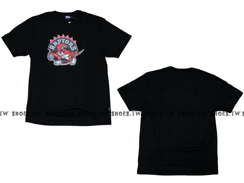 《換季折扣》Shoestw【8330216015】NBA 短袖 T恤 基本款 隊徽LOGO 100%純棉 多倫多 暴龍隊 黑色