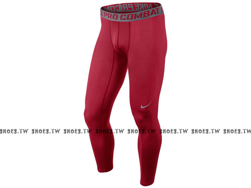 【449822653】NIKE PRO 萊卡 DRI-FIT 緊身束褲 保暖 長束褲 排汗 慢跑 暗紅色