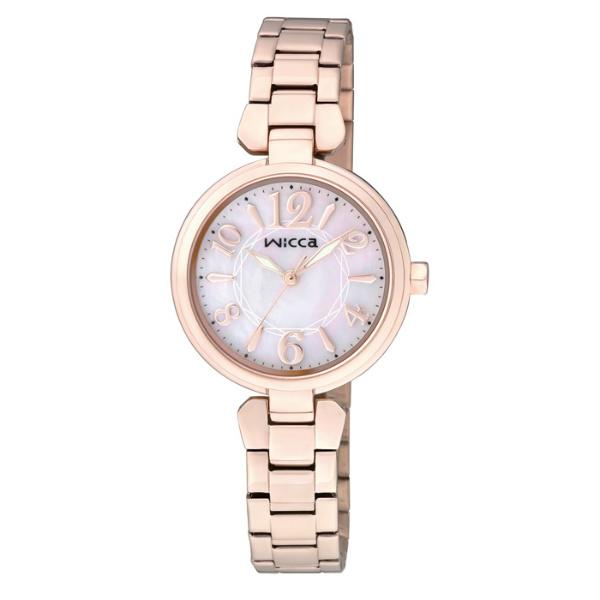 CITIZEN星辰WICCA(BG3-821-11)玫瑰金典雅時尚腕錶/粉紅面26mm