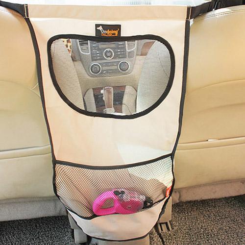 【威力鯨車神】汽車椅背多層次透氣收納袋/汽車用寵物圍欄/前後座圍欄