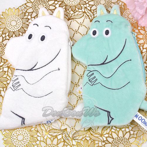 MOOMIN嚕嚕米人型絨毛零錢包吊飾綠白790673海度