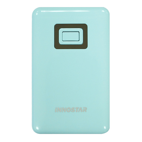 【行動電源】iNNOSTAR PC5588 馬卡龍繽紛色系移動電源(5500mAh)(藍)公司貨