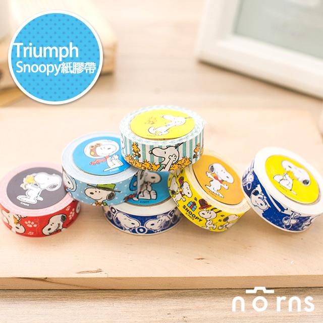 NORNS【Triumph紙膠帶 Snoopy】正版貼紙文具 史努比 糊塗塔克  裝飾拍立得底片