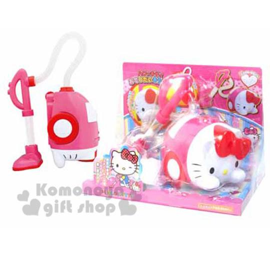 〔小禮堂〕Hello Kitty 造型吸塵器玩具組《桃.趴姿.立體造型》適合3歲以上孩童