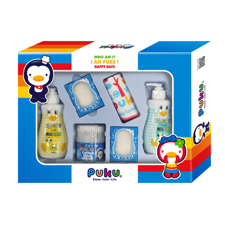 藍色企鵝 沐浴保養禮盒組-D