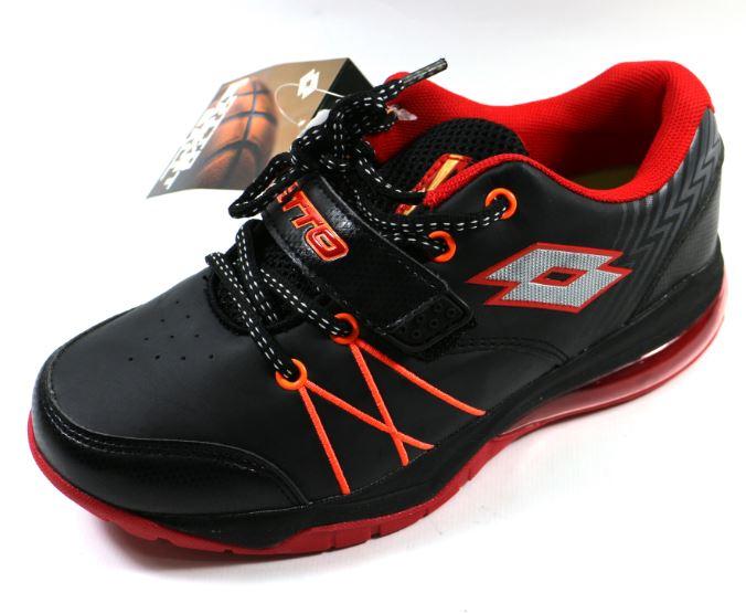 [陽光樂活] LOTTO 義大利 Kids 大童 雷神氣墊籃球鞋 - LT5AKB2580 黑/紅