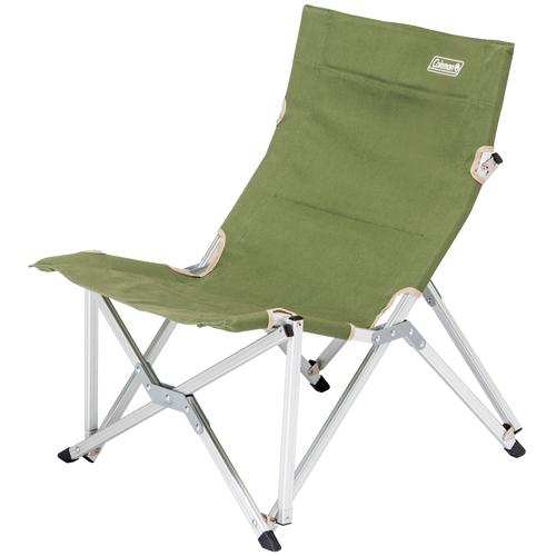 【露營趣】中和 Coleman 帆布樂活椅/艾薇綠 附收納袋 大川椅 休閒椅 導演椅 摺疊椅 CM-3110