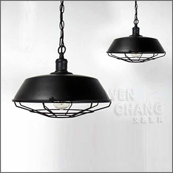 《特價》LOFT工業風 燈 有蓋 工業有網吊燈 大款 LC-020L *文昌家具*