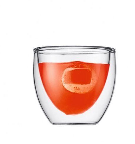 Bodum PAVINA雙層玻璃杯80CC-2入