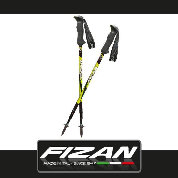 萬特戶外運動 FIZAN FZT03.30S 超輕三節式健行登山杖2入特惠組 輕量耐用 原裝進口 綠色