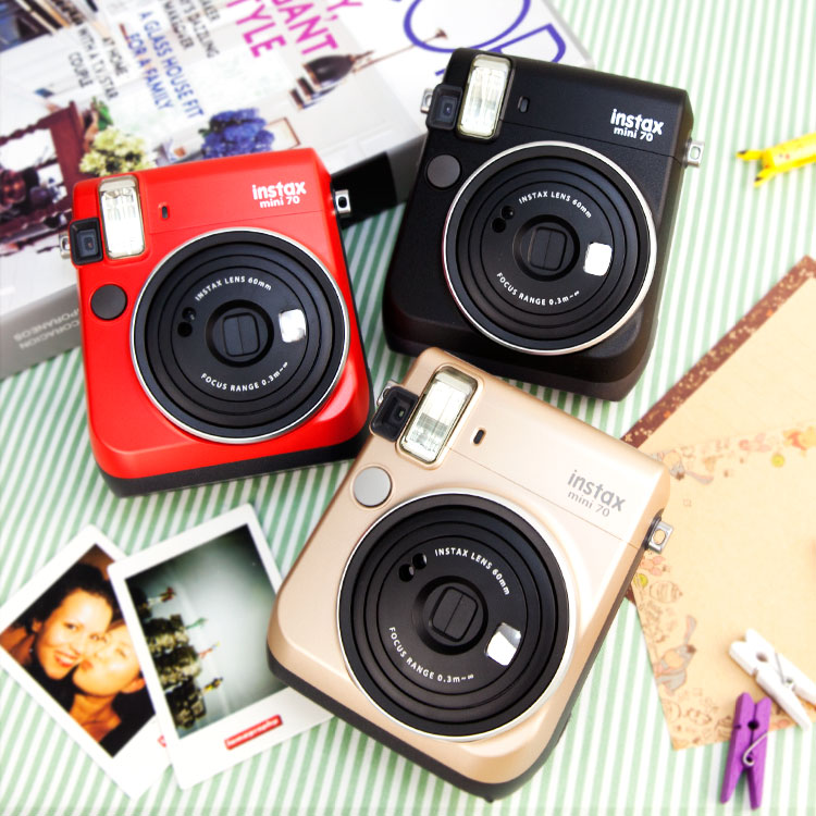 PGS7 富士 拍立得 相機 - Mini70 Mini 70 午夜黑 / 熱情紅 / 星塵金 公司貨 送 漫畫風格 底片 Maste 紙膠帶