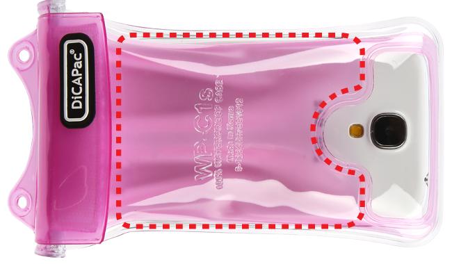 DiCAPac WP-C2s手機防水袋(5.7吋)-粉紅色