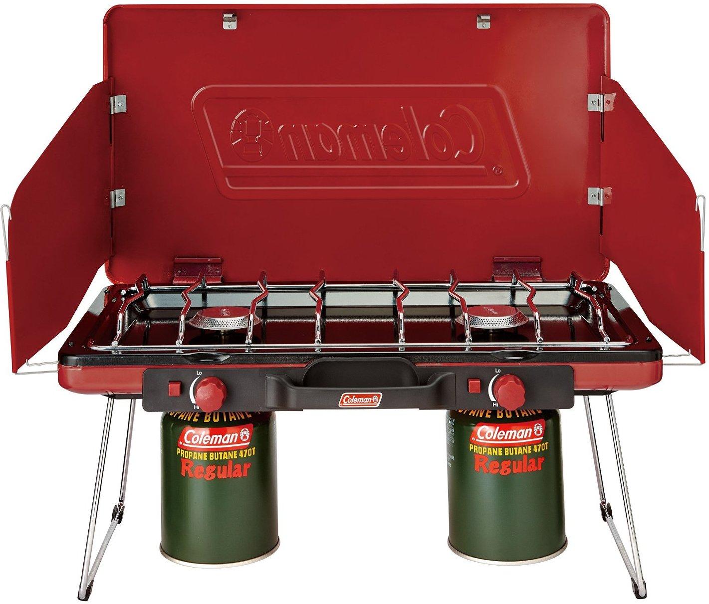 Coleman 瓦斯雙口爐 CM-21950M000 露營雙口爐 2000021950 紅/台北山水