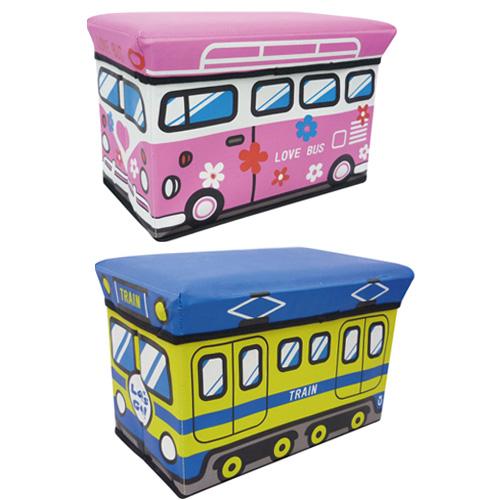 《C&B》大巴士汽車造型收納箱椅凳-好康2入
