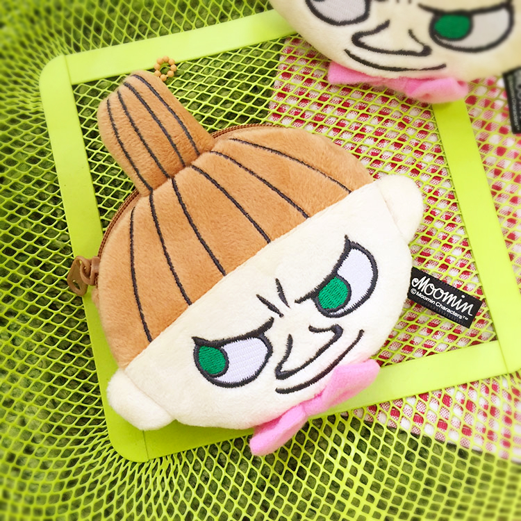 PGS7 日本卡通系列商品 - 嚕嚕米 Moomins 小不點 Little My 圓型 零錢包 收納包 大臉款