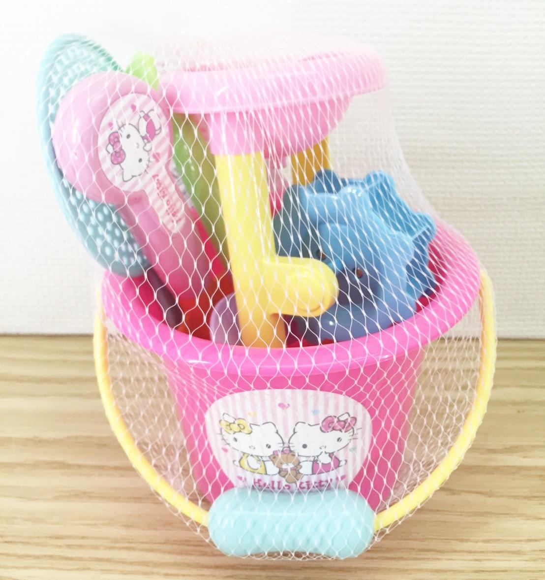 【真愛日本】16040200002 沙灘玩具組-KT&Mimmy 三麗鷗Hello Kitty凱蒂貓 堆沙堡用品 玩具