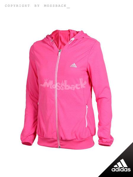 『Mossback』ADIDAS MESH WB 透氣 運動 連帽 外套 桃紅(女.)NO:A96312