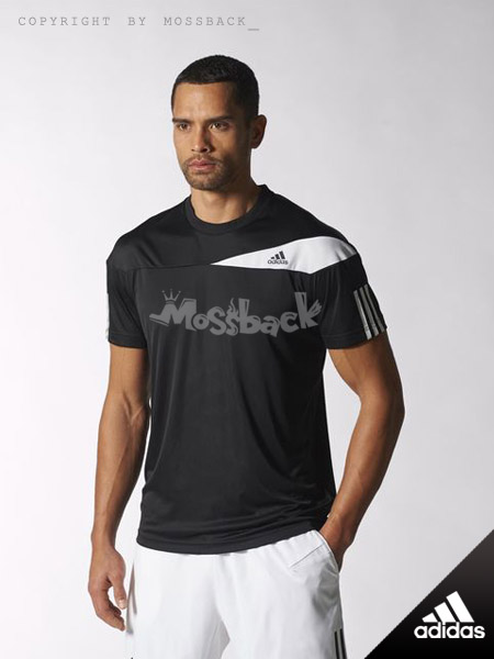 『Mossback』ADIDAS RESPONSE TEE 短T 運動 透氣 黑色(男.)NO:S15706