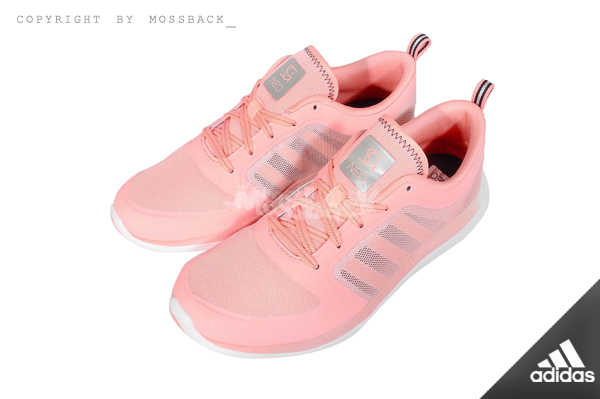 『Mossback』ADIDAS X LITE TM SG SHOES 輕量 透氣 跑鞋 粉白(女)NO:F98879