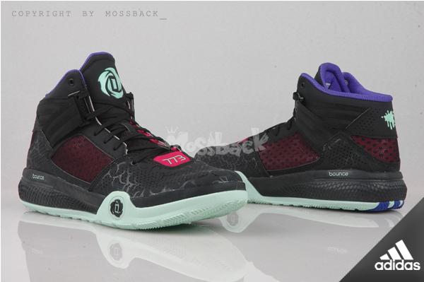 『Mossback』ADIDAS D ROSE 773 IV 玫瑰 輕量 籃球鞋 黑蒂綠紫(男)NO:S85544