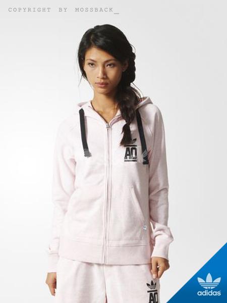 『Mossback』ADIDAS FZ HOOD FT 連帽 外套 粉色(女)NO:AJ7670