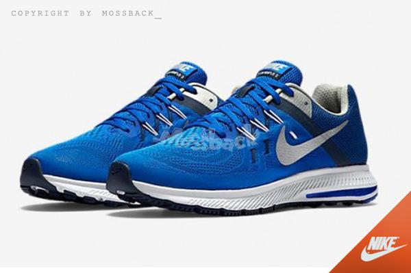 『Mossback』NIKE ZOOM WINFLO 2 慢跑鞋 透氣 輕量 氣墊 藍白(男)NO:807276-402