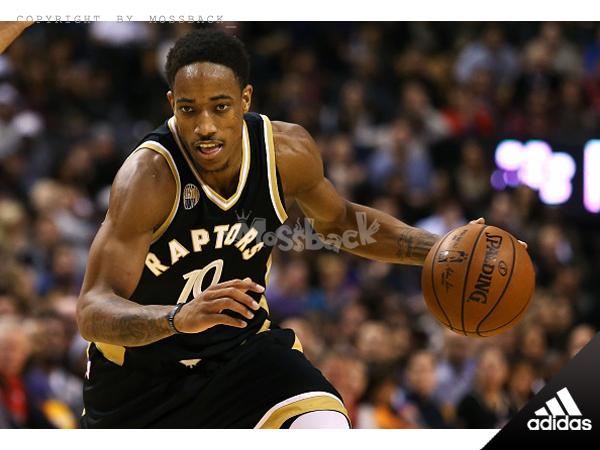 『Mossback』ADIDAS NBA DeRozan #10 暴龍隊 客場 球衣 黑金(男)NO:AL7140
