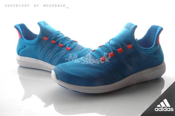 『Mossback』ADIDAS CC SONIC M 襪套 輕量 透氣 慢跑鞋 寶藍橘(男)NO:S78238