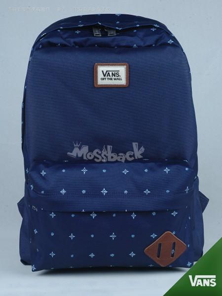 『Mossback』VANS M OLD SKOOL II BACK 後背包 豬鼻 雪花 藍色NO:562409BO