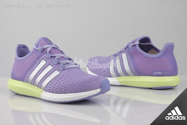 『Mossback』ADIDAS CC GAZELLE BOOST W 輕量 透氣 慢跑鞋 粉紫(女)NO:S77248
