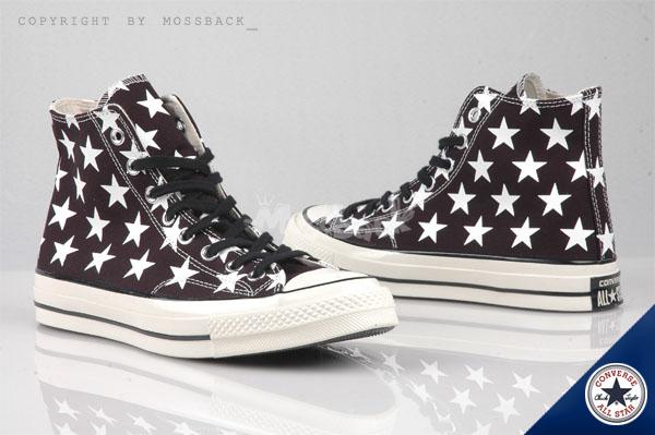 『Mossback』CONVERSE CTAS 帆布鞋 高筒 星星 黑白(男女)NO:147072C