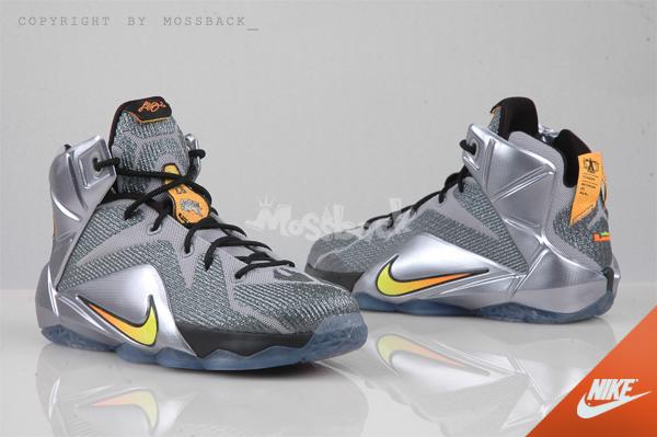 『Mossback』NIKE LEBRON XII (GS) 籃球鞋 氣墊 銀灰(大童)NO:685181-080