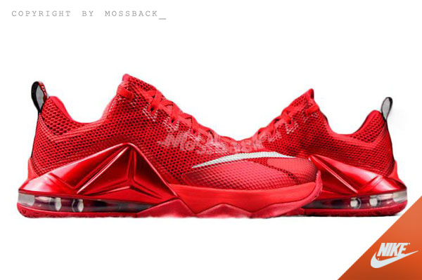 『Mossback』NIKE LEBRON XII LOW EP 低筒 籃球鞋 紅色(男)NO:724558-616